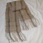 hand spun dog hair yarn,, collie, woven scarf