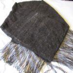 hand spun dog hair yarn, Bernese Mountain Dog, woven scarf