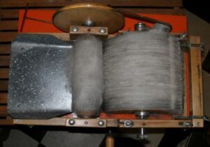 drum carder with dog hair