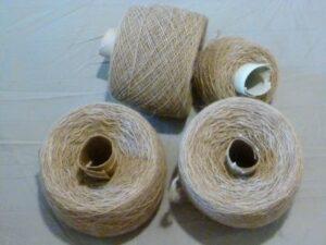 single strand of dog hair yarn