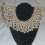 hand spun dog hair yarn crochet collarr