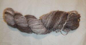 Handspun Papillon dog hair skein of yarn